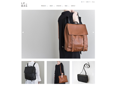 LE_BAS: handcrafted leather totes, backpacks, shoulder bags, satchels and wallets